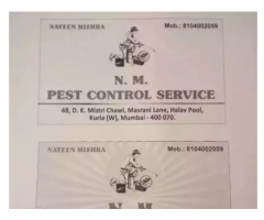 I works all types of pest control services in all