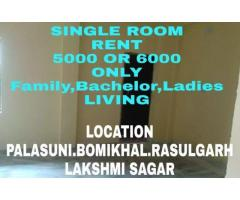BIG OR GOOD SINGLE ROOM NEAR PALASUNI OR RASULGARH OR LAKSHMI SAGAR