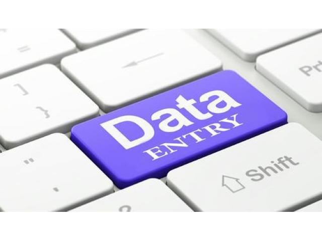 Vacancy for data entry job