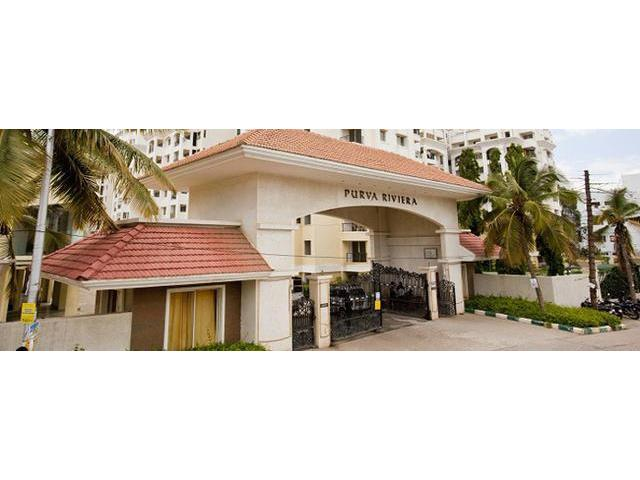 4Bhk Purva Riviera Semi furnished penthouse available on rent