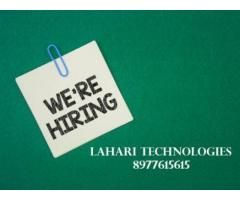 Job Openings in Lahari Technologies - Ameeerpet and ECIL