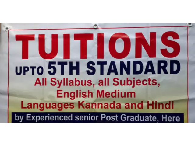 TUITIONS upto 5th standard
