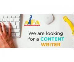 Internship content writer required