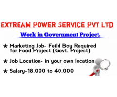 ₹ 18000 - 30000 | Weekly Marketing Jobs- Field boy Required for Food Project (Govt Project)