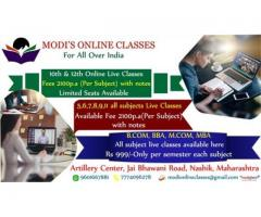 Online classes for 10th & 12th Nashik, India