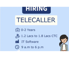 ₹ 7500 - 9500   Monthly Urgent openings for telecaller job