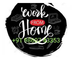 Best home based data entry part time job data entry work | ₹ 2500 - 35000 Weekly