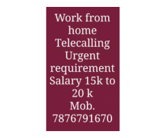 ₹ 10000 - 15000 | Monthly bpo jobs work from home