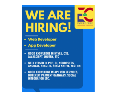 Web Developer job and  App Developer job