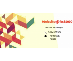 ₹ 8000 - 12000 | Hourly if you want a website ?. We are a freelance Web designer in kerala