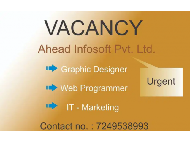 ₹ 10000 - 15000 | Monthly Graphic Designer, Web Designer job