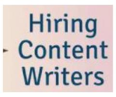 content writer jobs for from home