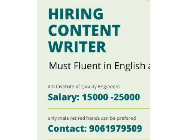 Part time content writer jobs