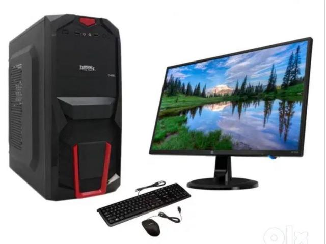 New Computer Set with CPU|Monitor|keyboard|Mouse