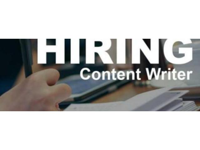 Content writer jobs for fresher