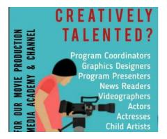 Creative talents wanted for web channel company | ₹ 7500 - 17500 Monthly Software engineer jobs