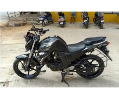 Second hand  Bike for sale Black silver yamaha fzs