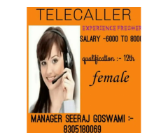 ₹ 5000 - 8000 | Monthly jobs for telecaller