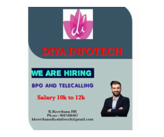 ₹ 10000 - 12000 | Monthly BPO job and Telecalling  job executive